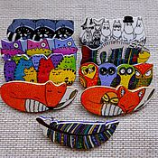 Украшения ручной работы. Ярмарка Мастеров - ручная работа заколки всякие-разные, ручная роспись, разноцветный. Handmade.
