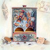 """Для дома и интерьера handmade. Livemaster - original item Чайный домик буфет """"Чаепитие с Алисой"""". Handmade."""