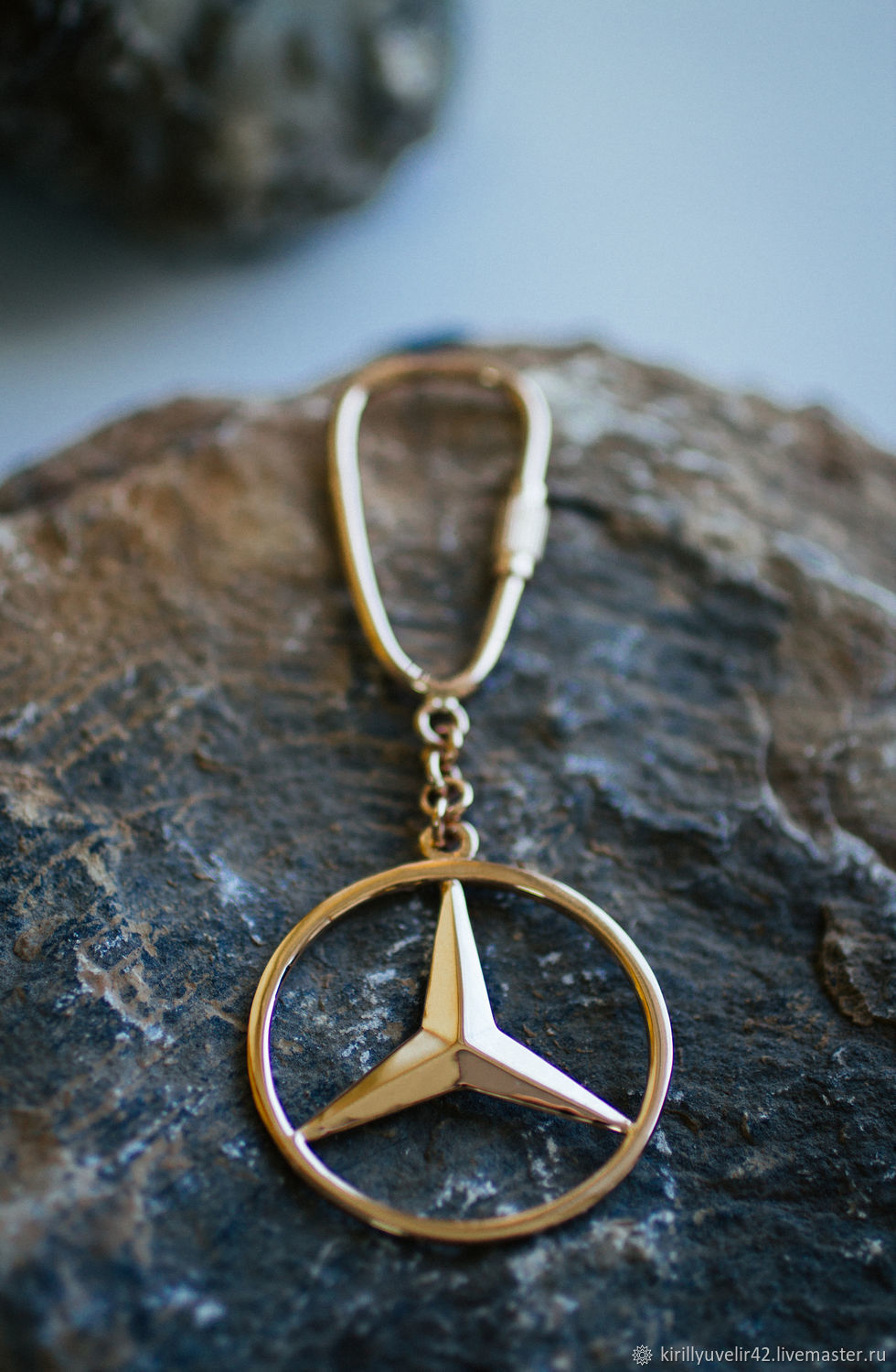 Keychain made of gold 585 Mercedes, Key chain, Kemerovo,  Фото №1
