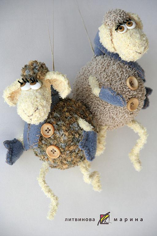 Сказочные персонажи ручной работы. Ярмарка Мастеров - ручная работа. Купить Зимние веселые овечки. Handmade. Овечка, смешной подарок