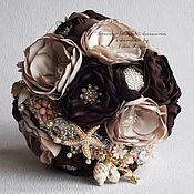 Свадебный салон handmade. Livemaster - original item Bouquet of fabrics and brooches