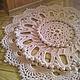 Текстиль, ковры ручной работы. Ярмарка Мастеров - ручная работа. Купить Ковер великолепный. Handmade. Бежевый, ажурный узор