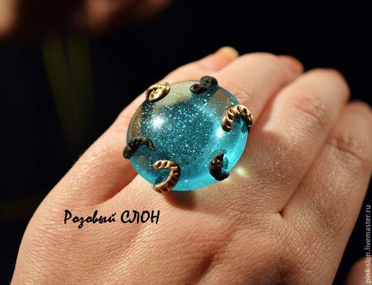 """Кольца ручной работы. Ярмарка Мастеров - ручная работа. Купить Кольцо """"Таинство новогодней ночи"""". Handmade. Кольцо, уникальное кольцо"""