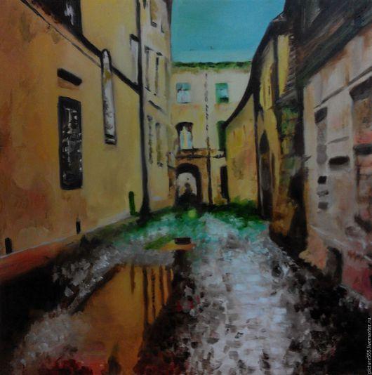 Город ручной работы. Ярмарка Мастеров - ручная работа. Купить Улица старого города (продано). Handmade. Город, после дождя