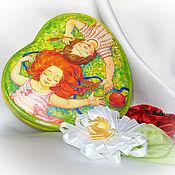 """Для дома и интерьера ручной работы. Ярмарка Мастеров - ручная работа Шкатулка - сердце """"Это любовь!"""" подарок любимой для настроения. Handmade."""