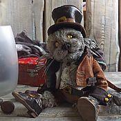 Куклы и игрушки ручной работы. Ярмарка Мастеров - ручная работа Котик тедди Райли. Handmade.
