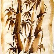 Картины и панно ручной работы. Ярмарка Мастеров - ручная работа Кофейный аромат - Стойкость - Оформлен. Handmade.