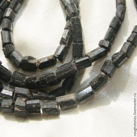Для украшений ручной работы. Ярмарка Мастеров - ручная работа. Купить ТУРМАЛИН шерл черный необработанный бусины. Handmade. турмалин