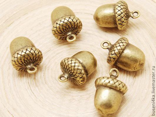 Для украшений ручной работы. Ярмарка Мастеров - ручная работа. Купить Подвеска Желудь 3D №3 античная бронза (1шт). Handmade.