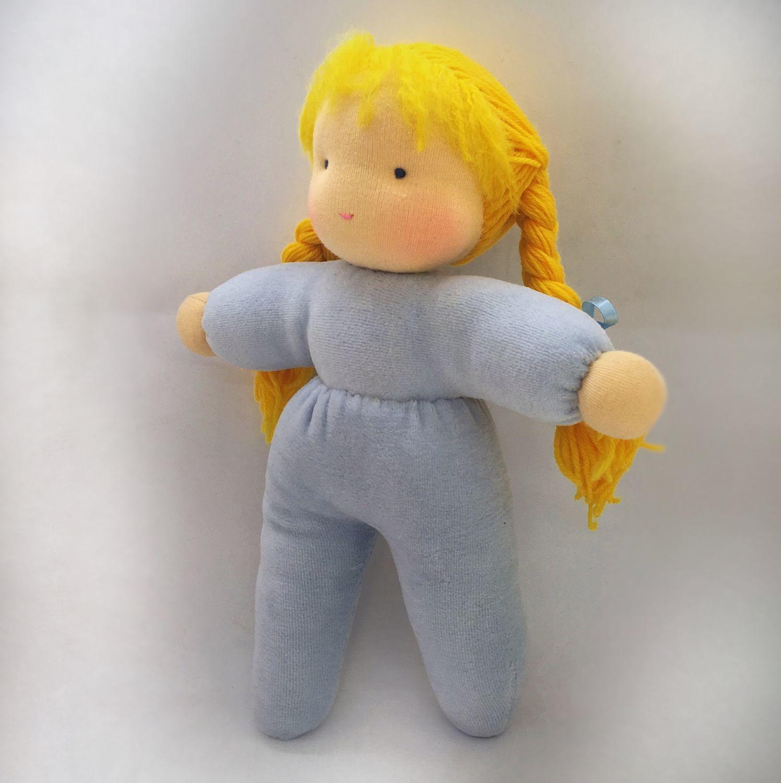 Вальдорфская кукла в пришивной одежке  32-34см, Вальдорфская игрушка, Москва, Фото №1