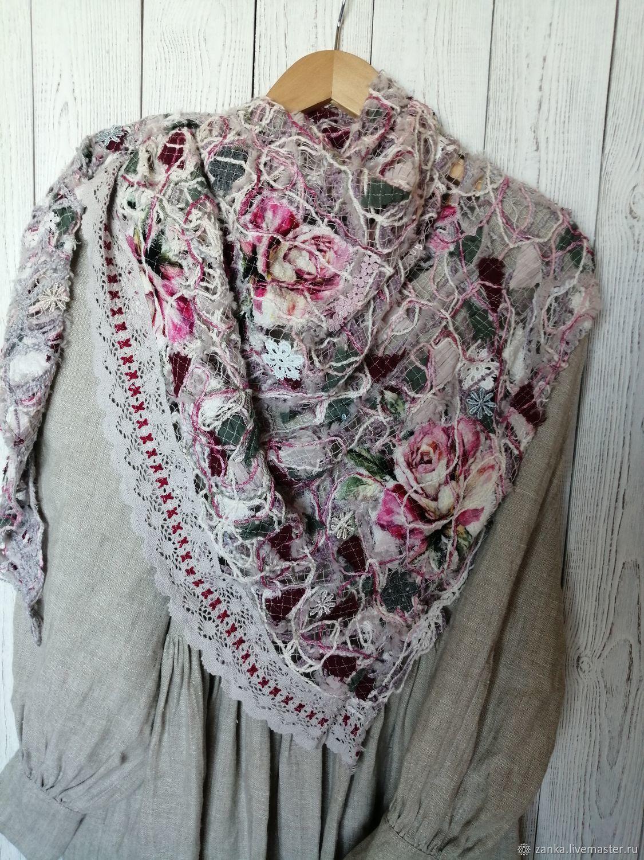 Handkerchief 'from the series' Summer fog', Shawls1, Baranovichi,  Фото №1