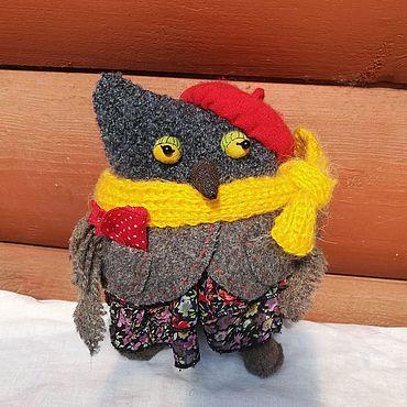 Куклы и игрушки ручной работы. Ярмарка Мастеров - ручная работа Игрушки: Сова- символ мудрости. Handmade.