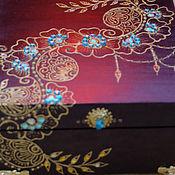 """Для дома и интерьера ручной работы. Ярмарка Мастеров - ручная работа Шкатулка в стиле """"Мехенди"""" (баклажановая). Handmade."""