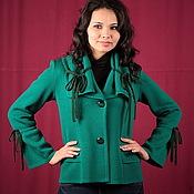 "Одежда handmade. Livemaster - original item Knitted jacket ""Spring greens"". Handmade."