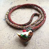 Украшения ручной работы. Ярмарка Мастеров - ручная работа Сотуар с пташкой. Handmade.