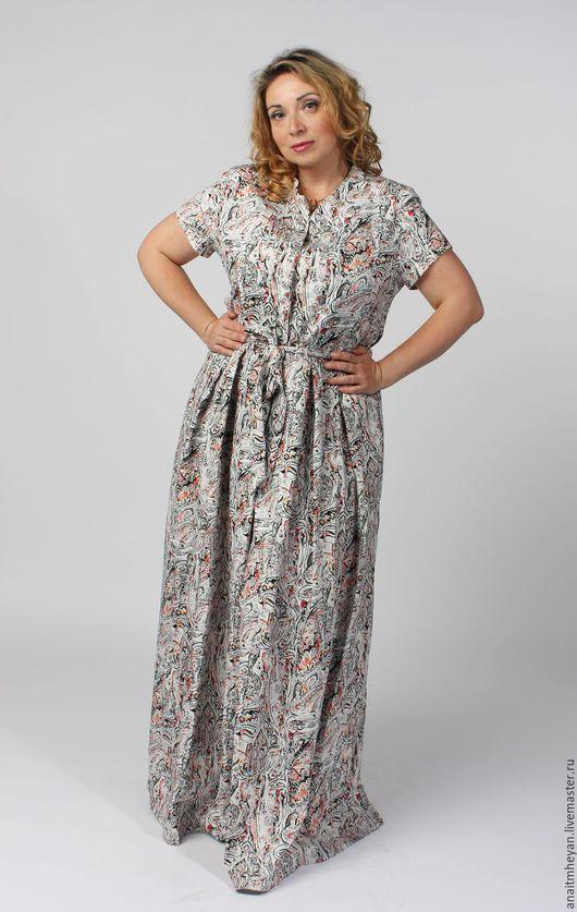 """Большие размеры ручной работы. Ярмарка Мастеров - ручная работа. Купить Платье """"PROVANCE"""". Handmade. Платье большого размера"""