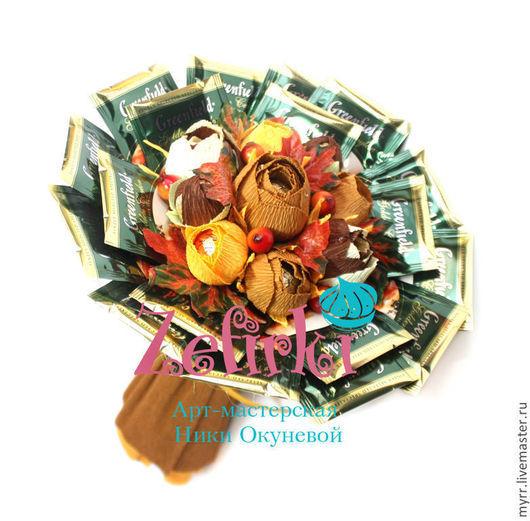 Букеты ручной работы. Ярмарка Мастеров - ручная работа. Купить Букет для мужчины мужской Букет из чая и конфет подарок мужчине. Handmade.