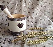 """Для дома и интерьера ручной работы. Ярмарка Мастеров - ручная работа Ступка """"Сердечки"""". Handmade."""