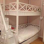 Для дома и интерьера handmade. Livemaster - original item 43. Bunk bed white. Handmade.