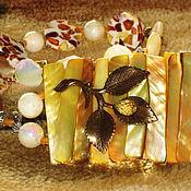 """Украшения ручной работы. Ярмарка Мастеров - ручная работа Бусы """"Медовые"""" янтарь, перламутр, кварц. Handmade."""