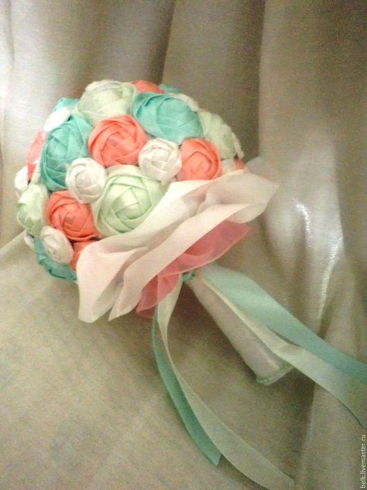 """Свадебные цветы ручной работы. Ярмарка Мастеров - ручная работа. Купить Свадебный букет-дублер-брошь, для невесты. """"Мятное дыхание"""". Handmade."""