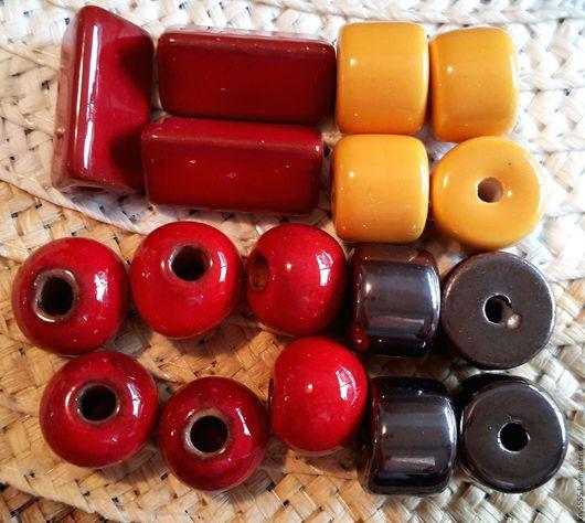 Для украшений ручной работы. Ярмарка Мастеров - ручная работа. Купить Греческая керамика   трубочки, рондели, цилиндры. Handmade. Столбик