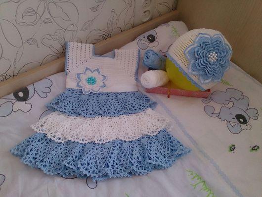 Платья ручной работы. Ярмарка Мастеров - ручная работа. Купить Нарядное платье крючком для маленькой принцессы. Handmade. Платье крючком