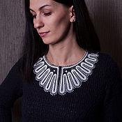 Аксессуары handmade. Livemaster - original item Lace collar black and white. Handmade.