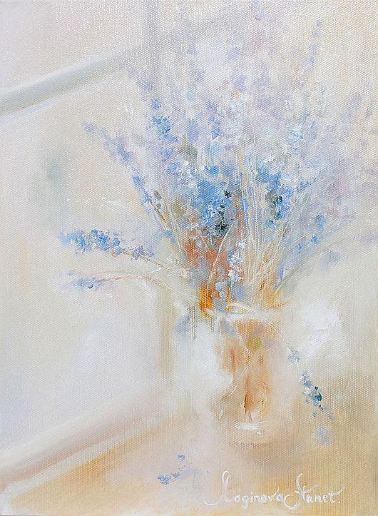 Картины цветов ручной работы. Ярмарка Мастеров - ручная работа. Купить Lavender morning. Handmade. Теплые оттенки, картина лаванда