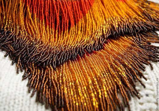 Пояса, ремни ручной работы. Ярмарка Мастеров - ручная работа. Купить Навеска бахрома для танцевального костюма. Handmade. Рыжий