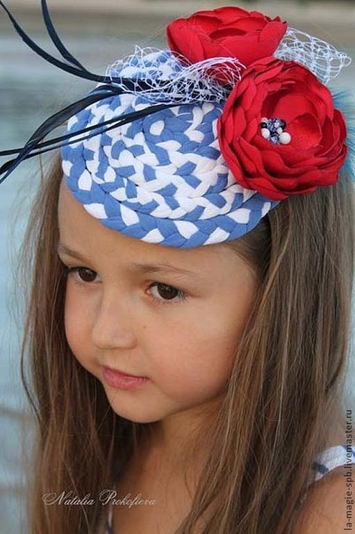 """Шляпы ручной работы. Ярмарка Мастеров - ручная работа. Купить Детская шляпка из серии """"Les marins font la mode""""(Моряки создают моду). Handmade."""