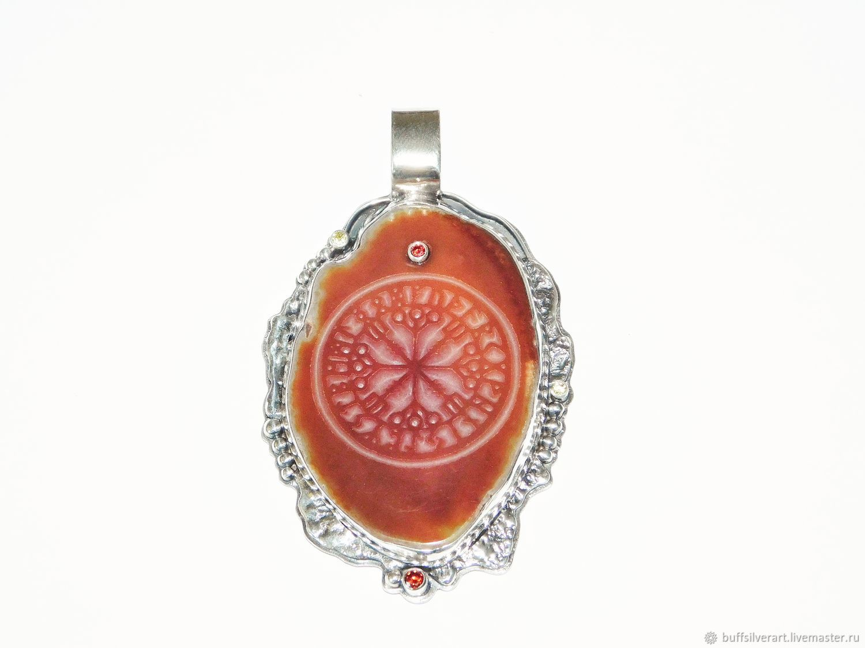 Amulet amulet 'with's called the aegishjalmur Runic compass', Pendants, Ekaterinburg,  Фото №1