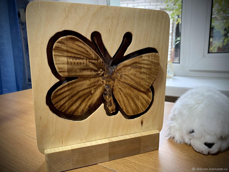 3D Ночник из дерева в виде бабочки, Ночники, Барнаул,  Фото №1