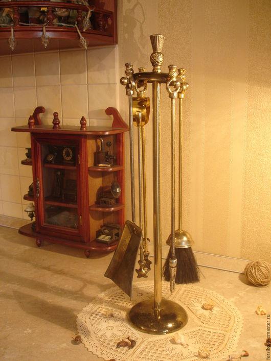 Винтажные предметы интерьера. Ярмарка Мастеров - ручная работа. Купить Старинный большой каминный набор!!!. Handmade. Старинный набор, щипы для камина
