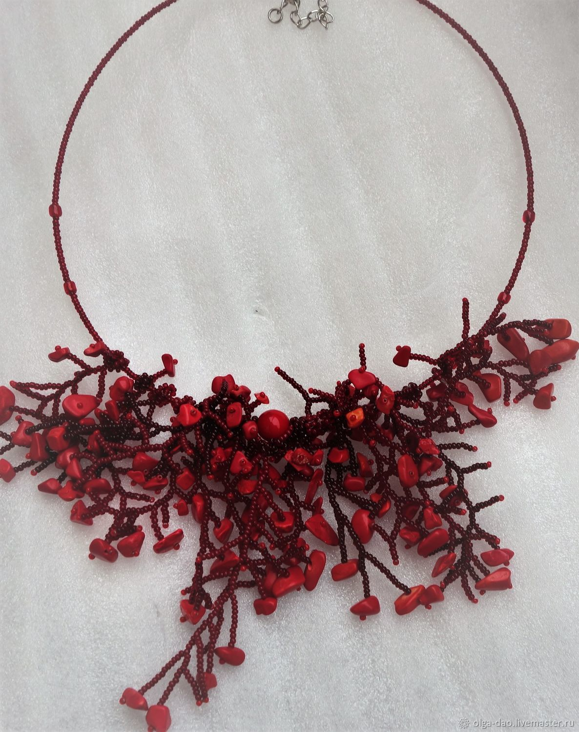 Necklace handmade. Fair Masters - handmade. Buy Necklace with coral. Handmade.  Gift,fashion accessory.red coral beads, beads
