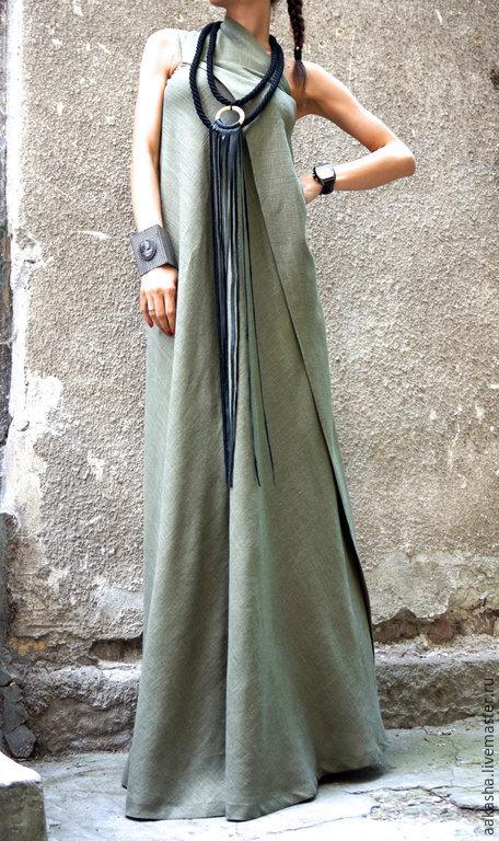 Сарафан льняной длинное платье сарафан из льна длинное платье платье в пол летнее платье