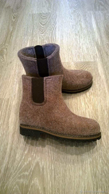 eb7a401ab Обувь ручной работы. Ярмарка Мастеров - ручная работа. Купить Валяные  ботинки с эластичной вставкой ...