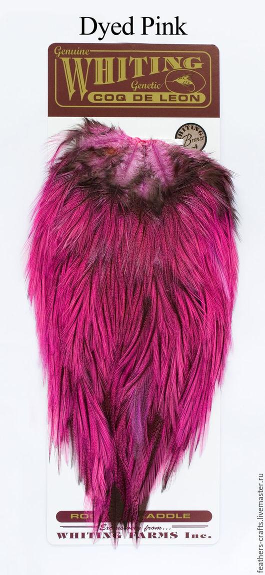 Другие виды рукоделия ручной работы. Ярмарка Мастеров - ручная работа. Купить Перья Coq de Leon Bronze Saddle  Dyed Pink (51302253). Handmade.