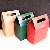 Материалы для творчества ручной работы. Ярмарка Мастеров - ручная работа коробка-пакет с прорезными ручками. Handmade.