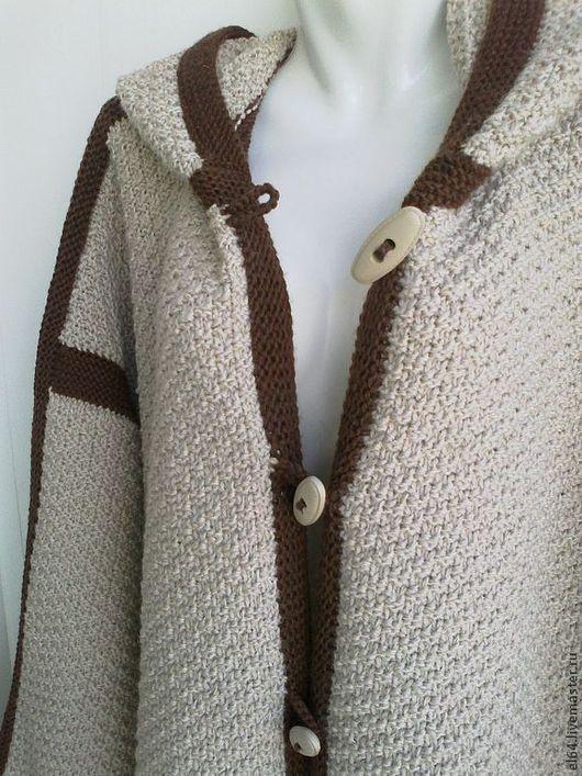 Пиджаки, жакеты ручной работы. Ярмарка Мастеров - ручная работа. Купить Жакет в стиле дафлкота. Handmade. Бежевый, жакет спицами