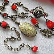 Медальон Бронзовый с Кораллами