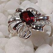 Украшения handmade. Livemaster - original item Silver ring with garnet spessartin.. Handmade.