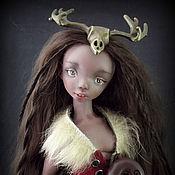Куклы и игрушки ручной работы. Ярмарка Мастеров - ручная работа Охотница. Шарнирная кукла. Handmade.