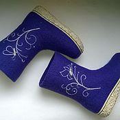 Обувь ручной работы. Ярмарка Мастеров - ручная работа Валенки детские синий цвет. Handmade.