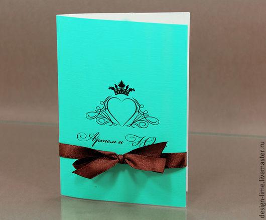 Приглашение `Бирюза и шоколад`