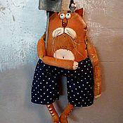 Куклы и игрушки ручной работы. Ярмарка Мастеров - ручная работа Кот со скворечником... Handmade.