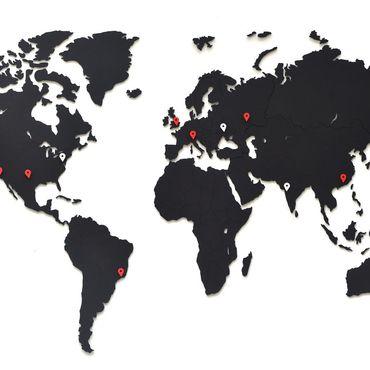 Diseño y publicidad manualidades. Livemaster - hecho a mano Mapa del mundo decoración de la pared negro 90h54 cm. Handmade.
