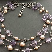Украшения handmade. Livemaster - original item Choker FANTASY II amethyst and pearls. Handmade.