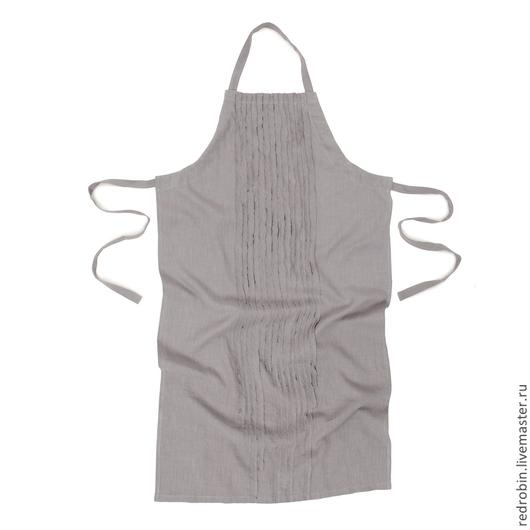 """Кухня ручной работы. Ярмарка Мастеров - ручная работа. Купить Фартук """"Стилетта"""" светло-серый. Handmade. Серый, льняной мешочек"""