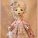 Коллекционные куклы ручной работы. Ярмарка Мастеров - ручная работа. Купить авторская текстильная  кукла РОКОКО. Handmade. Бледно-розовый